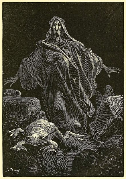 Dore, Gustave: The Shriek of Timidity. Fine Art Illustration/Print.  (003697)